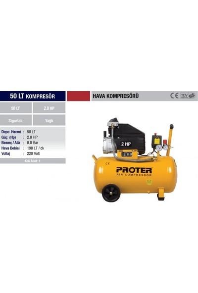 Proter PR 50 Hava Kompresörü 50 Lt kompresör 50 litre