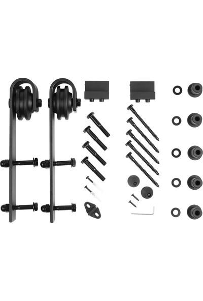 Ahır Kapısı Baston Modeli (Tek Ray-Çift Kanat) Dolap Sürgü Mekanizması