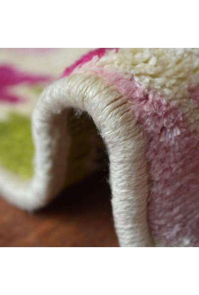 Carpetus Halı Perla Çiçekli Pembe 80X150