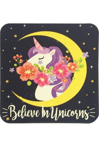 Gogo Believe In Unicorns Bardak Altlığı Seti
