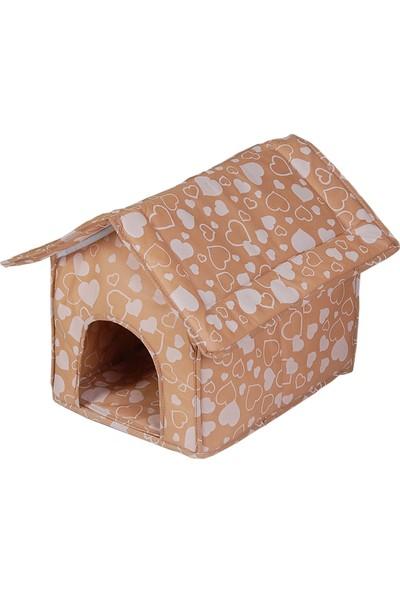 Petzoom Kedi Evi Yatağı Kahverengi