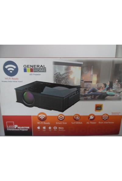 General Home 1+Wıfı Hd Led Projeksiyon Miracast / Airplay Kablosuz