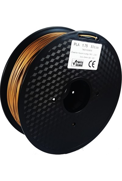 Filament Dünyası Altın PLA 3D Yazıcı Filamenti 1.75mm - 1kg