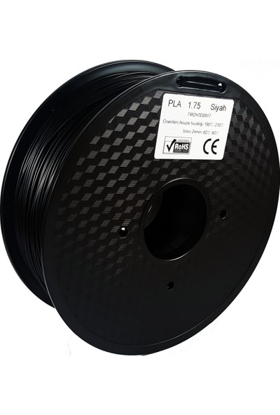 Filament Dünyası Siyah PLA 3D Yazıcı Filamenti 1.75mm - 1kg