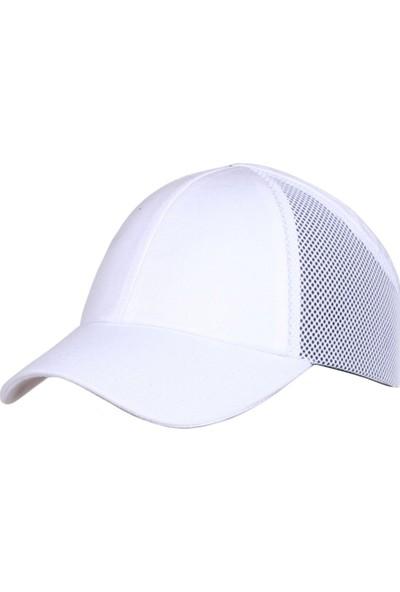 Shelter Darbe Emici Şapka Top Kep Fileli Beyaz
