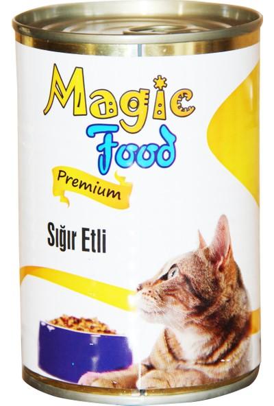 Magic FoodPremıum Sığır Etli 415 Gr Konserve Kedi Maması (Yaş Mama)