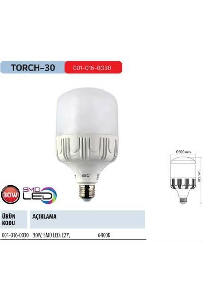 Horoz Torch-30 30 Watt 2500 Lumen 6500 Kelvın Beyaz Işık E-27 Silindir Tip Led Ampul 30W
