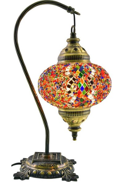 Masaüstü Mozaik Çalışma Masası Abajur Gece Lambası Dekor Lamba