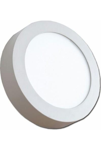 justled Sıvaüstü Yuvarlak Led Panel Armatür Beyaz Işık 24 Watt