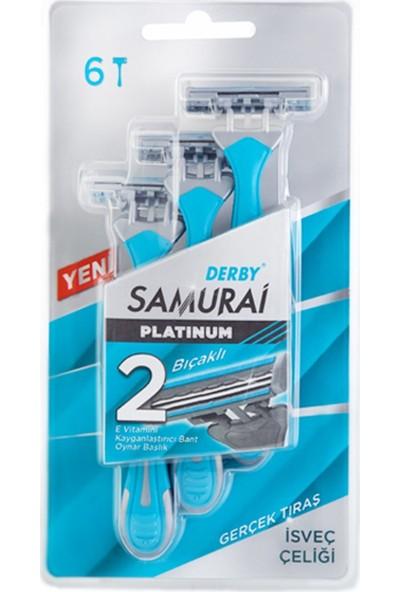 Derby Samurai Platinum 2 Bıçaklı İsveç Çeliği 6'lı Tıraş Bıçağı