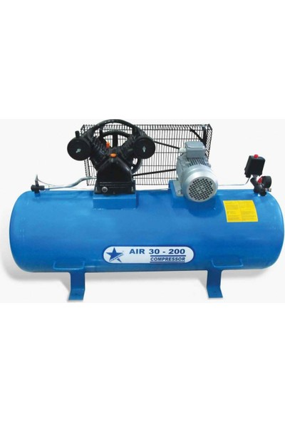 Cleanvac AIR30-200 200 Litre Mono Kompresör