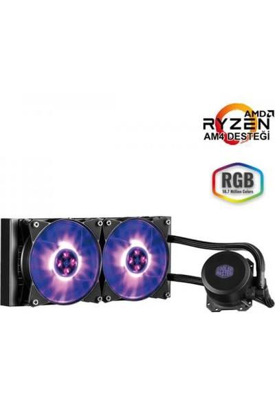 Cooler Master Liquid ML240L RGB Led Fanlı İşlemci Sıvı Soğutma Kiti (Intel&AM4 Destekli) (MLW-D24M-A20PC-R1)