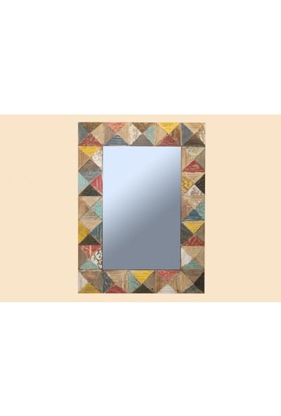 Fidex Home Dekoratıf Ahsap Ayna