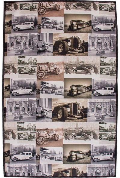 Nevresim Dünyası Dijital Baskı Halı 70x110 - Klasik Araba