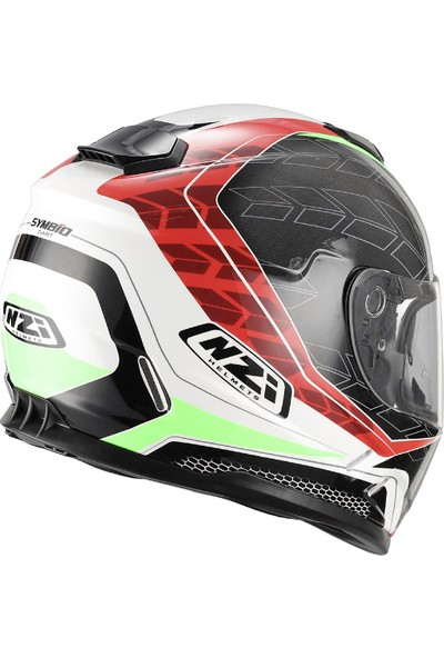 NZI Symbio Dart Red Green Kask