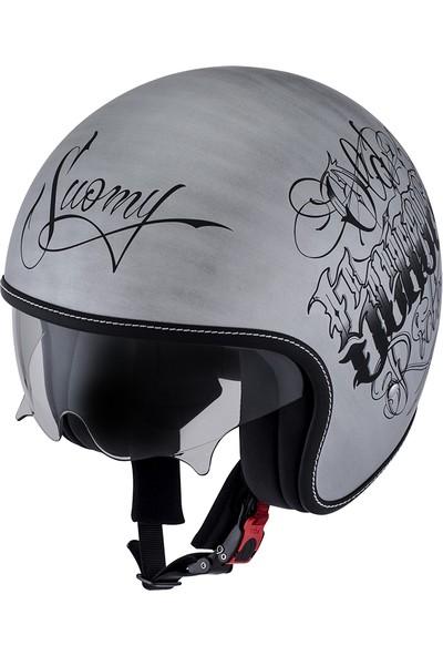 Suomy Rokk Old School Rider Scratch Silver
