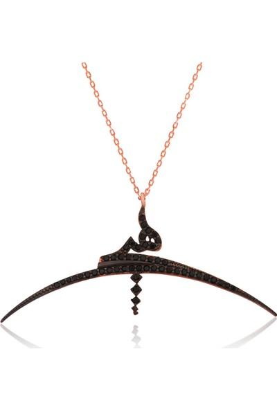 Grandhanra Gümüş Arapça Hiç Yazılı Bayan Kolye 311517