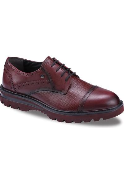 JUMP 16423 Erkek Deri Ayakkabı Bordo