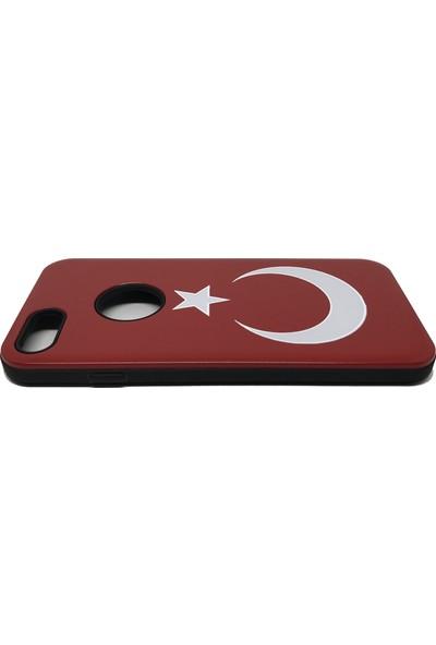 Vendas Apple iPhone 6 Türk Bayraklı Sert Silikon Kılıf + Ekran Koruyucu