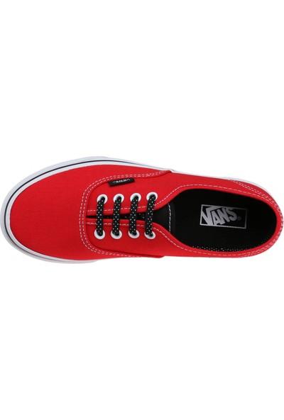 Vans Authentic Kırmızı Siyah Unisex Çocuk Sneaker