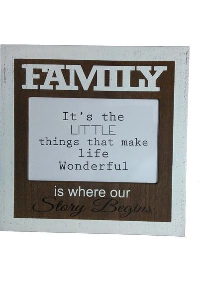 Resim Çerçevesi Family Ahşap