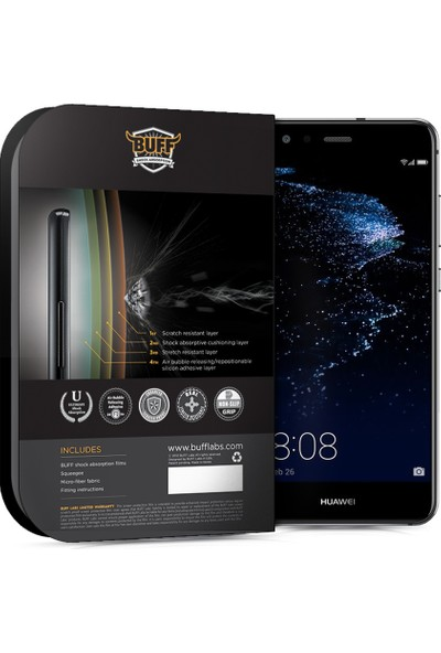 Buff Huawei P10 Lite Darbe Emici Ekran Koruyucu Film