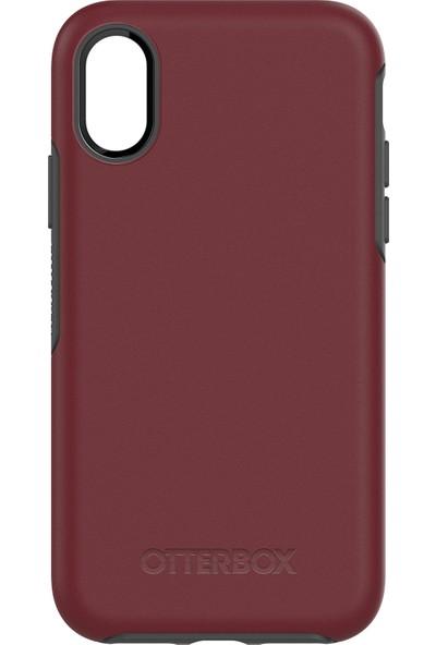 OtterBox Apple iPhone X Symmetry Kılıf Bordo