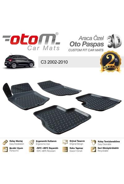 Otom Citroen C3 2002-2010 Araca Özel 3D Havuzlu Paspas