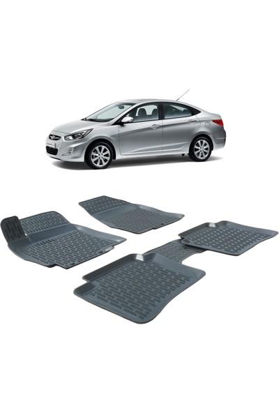 Otom Hyundai Accent Blue 2010-2018 Araca Özel 3D Havuzlu Paspas