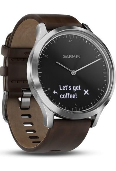 Garmin Vivomove HR Silver Premium - Deri Kayış Akıllı Saat