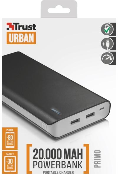 Trust Urban 21795 Primo Powerbank 20000 - Siyah