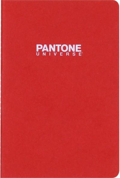 Pantone Medium Boy Çizgisiz Defter Kırmızı 47228-7