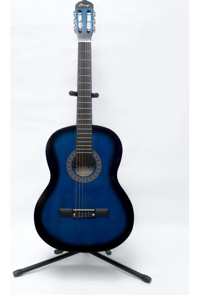 Simge Klasik Gitar MAVİ 39,5 İNÇ 4/4 Tam Boy KILIF+PENA HEDİYE