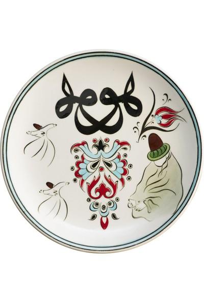 Kimya Hatun Kooperatifi Hu Hat Tasarımlı Klasik Çini Dekoratif Tabak