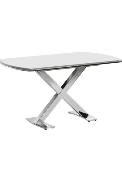 Azzore En858 Sabit Lamigloss Beyaz Mutfak Masası