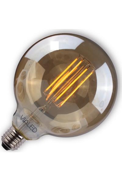Vialicht 2W(20W) Led Rustik Deco G125 Ampul E27 2000K GOLD