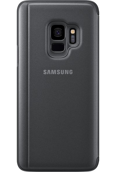 Samsung S9 Clear View Standing Kılıf Siyah - EF-ZG960CBEGWW