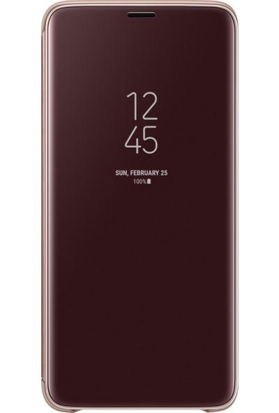 Samsung S9 Plus Clear View Standing Kılıf Altın - EF-ZG965CFEGWW