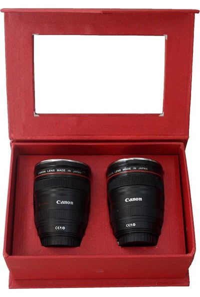 Mnk Canon Objektif Tasarım 2'li Shot Bardak Seti