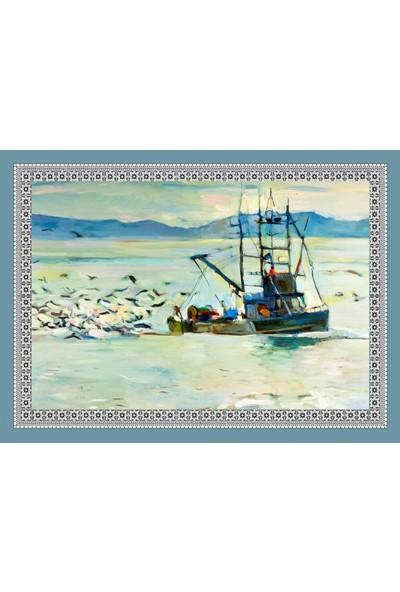 Popvitrin Tablo Halı - Balıkçı 50 x 70 cm
