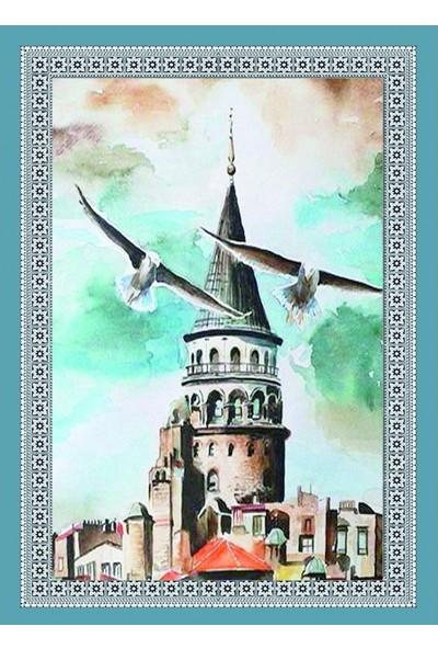Popvitrin Tablo Halı - Martı 50 x 70 cm
