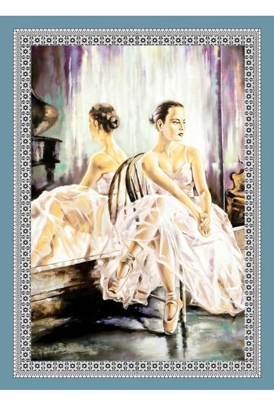Popvitrin Tablo Halı - Balerin 50 x 70 cm