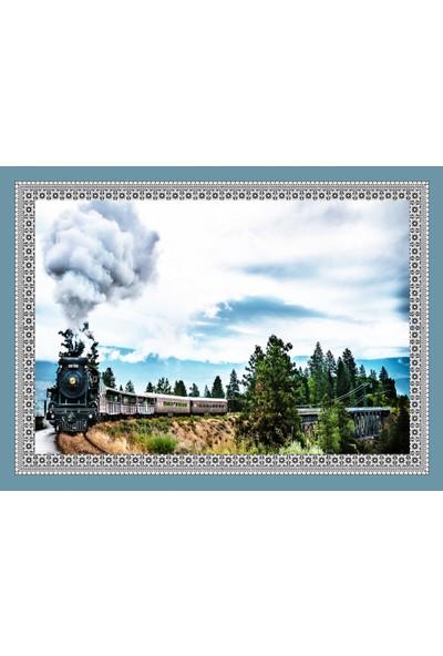 Popvitrin Tablo Halı - Tren 50 x 70 cm