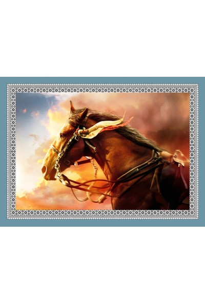 Popvitrin Tablo Halı - At 50 x 70 cm