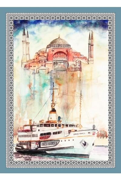 Popvitrin Tablo Halı - İstanbul 50 x 70 cm