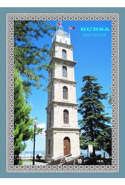 Popvitrin Tablo Halı - Bursa Saat Kulesi 50 x 70 cm