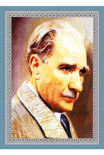 Popvitrin Tablo Halı - Mustafa Kemal Atatürk 50 x 70 cm