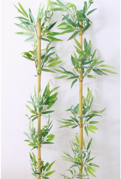 Yapay Çiçek Deposu 180 cm Yapay 14 Dal Yapraklı Gerçek Bambu