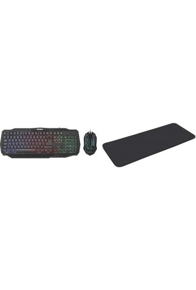 Everest KMX-86 Siyah USB Klavye + Mouse Set + Mouse Pad ( TKZ 300271 )