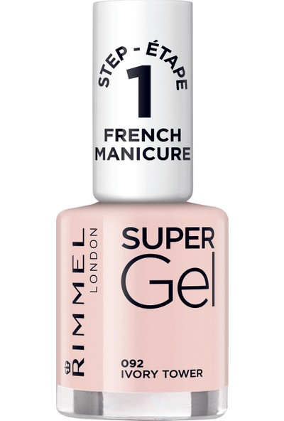 Rimmel London SUPER GEL FRENCH MANICURE 092 - Ivory Tower